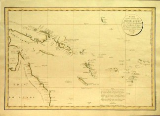 Chart of Australia created by La Perouse