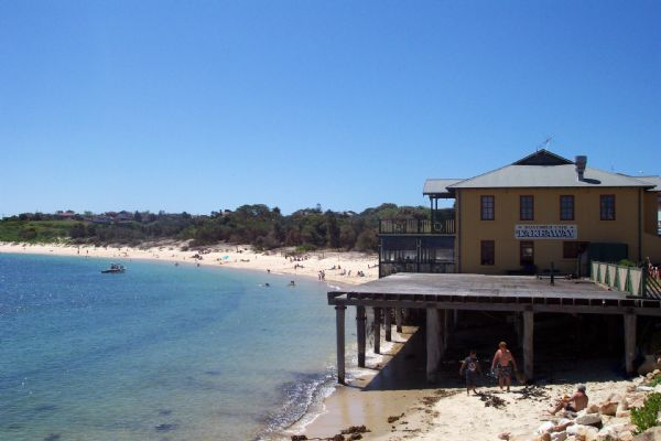 The suburb and beach at La Perouse today