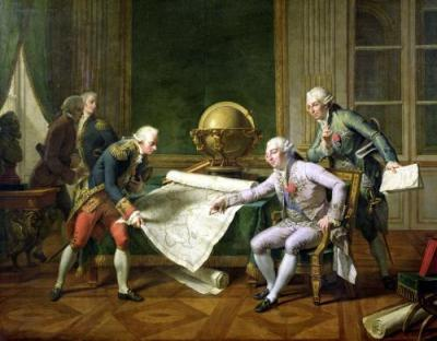Louis XVI gives instructions to explorer La Perouse