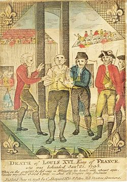 The execution of Louis XVI: Elected Cap, bloody slicing